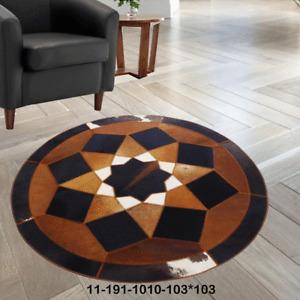 New floor rugs patchwork cowhide rug living room rug round rugs online AU 11-191