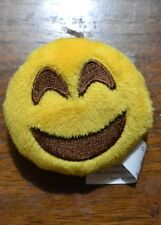 Yellow Furry Round Fuzzy Happy Face Refrigerator Stuffed Magnet Free Shipping