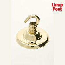 Jeani 400BRA - Polished Brass Ceiling Hook Plate For Hanging Light Fitting