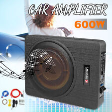 "10"" Inch 600W Car Under Seat Slim Active Amplifier Subwoofer Enclosure  T"