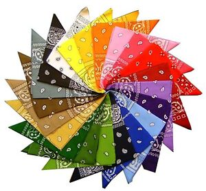 Bandana foulard 100 % coton couleur au choix