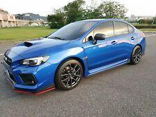 STI Style Front Bumper Lip & Lip Protector Fit 2020 Subaru WRX STI ABS Mat Black