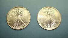 LOT OF ( 2 ) FRESH FROM US MINT TUBE 1995 AMERICAN SILVER EAGLES LOW MINTAGE