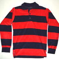 NWOT vtg 70s Campus Velour Wide Stripe Long Sleeve Shirt Sz Sm OG Grunge