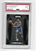 2017-18 PANINI PRIZM DE'AARON FOX PSA 9 ROOKIE RC #24 BASE