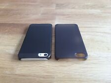 Apple iPhone 5 5S SE Ultra Slim matte Handyhülle 0,2mm Smartphone 1 Cover braun