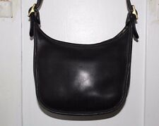 Coach Janice's Legacy Black Leather Crossbody Messenger Handbag Purse #9950