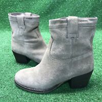 Steve Madden SHAKKERR Taupe Beige Gray Suede Ankle Boot Heels Size 7m