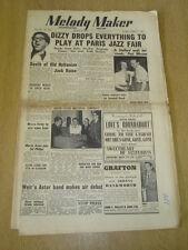 MELODY MAKER 1952 MARCH 8 DIZZY GILLESPIE JAZZ FAIR JACK RAINE MECCA ASTOR