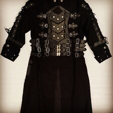 Steampunk SDL Black Heavy Cotton Jacket with rubber detail