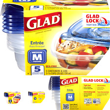 Glad Medium Square Food Storage Containers, (25 Oz) -5 Count, Standard 1 Pack