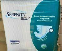 60 Pannoloni a Mutandina Serenity MAXI taglia M per incontinenza piene gocce