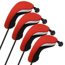 Us Red 4pcs Hybrid r Headcovers Golf Club Head Cove Set For Taylormade M1 M2 R15