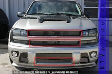 GTG 2002 - 2005 Chevy Trailblazer 3PC Polished Overlay Combo Billet Grille Kit