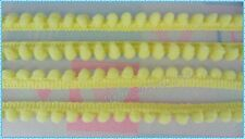 Baby Yellow Pom Pom Fringe Embroidery Braid Sewing Lampshade Bobble Trim Scarf