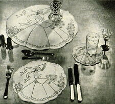 Vintage embroidery pattern & iron on transfer-Crinoline lady design in 5 sizes