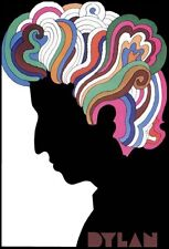 1960s Milton Glaser Bob Dylan psychedelic poster replica magnet - new!