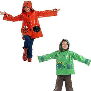 Scribble Frog Ladybird Raincoat Children Jacket Kids Rainwear Cagoule Waterproof