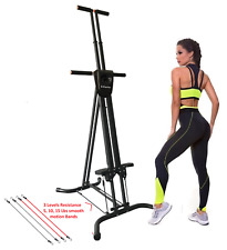 X-Factor Vertical Maxi Climber W/ 3 Smooth Abs Cardio Resistance Level Band NEW