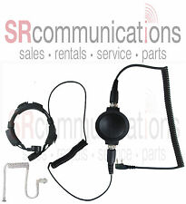Police Throat Mic W/ Earpiece Kenwood TK2360 TK3360 NX220 NX320 TK2400 TK3400