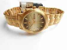 JAPAN MADE ORIENT CRYSTAL GOLD PLATED MEN AUTOMATIC WATCH WITH BOX