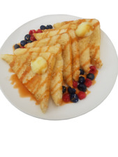 French Toast With Berries And Syrup Fake Food Prop L@k.