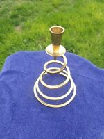 UNIQUE, RARE, VINTAGE, BRASS, swirl, taper Candlestick Holder centerpiece