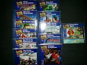 TKKG CD-Sammlung—12 Stück altes Logo Folgen 151+155-165