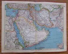 Arabien - alte Landkarte Karte old map 1928