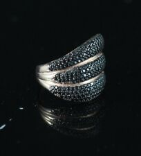 TURKISH HANDMADE ONYX STERLING SILVER 925K AND BRONZE RING SIZE 7