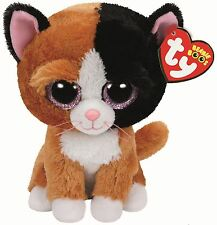 "TY Beanie Boo 6"" Tauri the Cat 15cm - Collectable Plush"