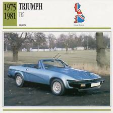 1975-1981 TRIUMPH TR7 Sports Classic Car Photo/Info Maxi Card