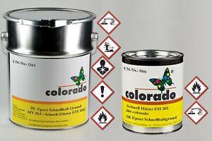 2K Grundierung Epoxidharz Schnellhaftgrund für Zink Alu Stahl, hellgrau, 1,1 kg
