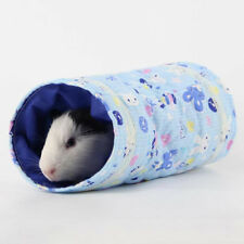 Hamster Guinea Pig Cage Three Way Tubes Bed for Little Cat Hedgehog Tunnel Toy L