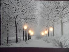 """Led Lighted First Snow Canvas Wall Art Large Size 23-5/8"""" x 15-7/8"""""""