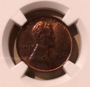 USA 1935 One Cent NGC MS 62 RB - Lincoln Wheat