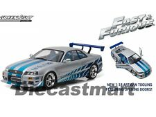 "GREENLIGHT 1:18 1999 NISSAN SKYLINE GT-R (R34) ""FAST & FURIOUS"" MOVIE 19029"