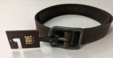 NWT Frye Men's Sz 36 Leather Panel Belt Brushed Nickel Buckle Brown Retail $98
