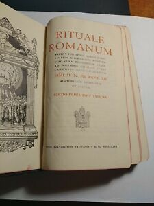 rituale romanum editio prima post typicam Pio XII Vetus ordo messa i Latino 1957