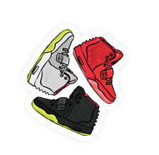 Nike Air Yeezy Trifecta Sneakers Vinyl Car Bumper Bottle Phone Decal Sticker