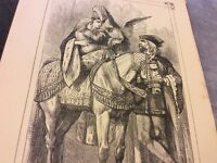 Antique Book Print - Sports of the Feudal Period - 1900