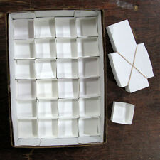 "White Mineral Fold-up Boxes, size 24's (2.5"" x 2.5"") - 100 pieces"