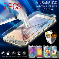 2 x 9H Tempered Glass Film Screen Protector Guard for Samsung Galaxy S4/S5/S6/S7