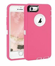 Pink Hybrid Shockproof Hard & Soft Cover Case For iPhone 7 8 6s 6 Plus 4.7 5.5