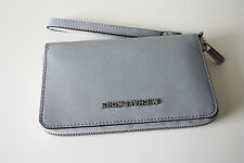 MICHAEL KORS Portemonnaie JET SET TRAVEL Large Flat Saffiano Phone dusty blue