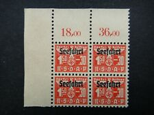 Germany Nazi 1942 Stamp MINT Swastika Eagle Revenue Overprint Seefahrt Era Party