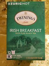 Twinings Irish Breakfast Black Tea Keurig 12 k-cups .Exp.04/22