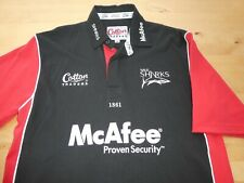 SALE SHARKS COTTON TRADERS RUGBY FOOTBALL UNION JERSEY SHIRT TOP MEDIUM