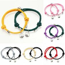 2Pcs Couple Bracelet Love Friendship Rope-Braided Fashion Magnetic Bracelets