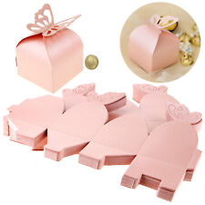 50x Butterfly Candy Gift Case Paper Holder Paper Box Mini Pouch Wedding Party